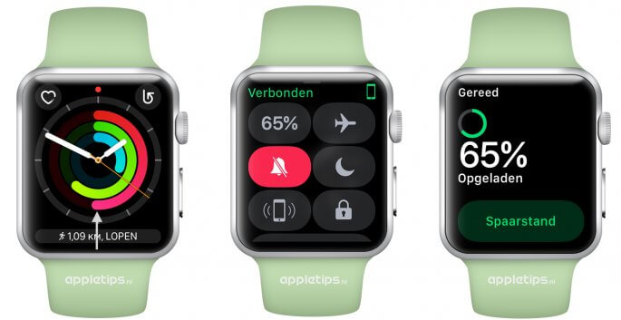 bedieningspaneel activeren in watchOS 3 Apple Watch