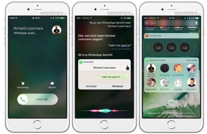 WhatsApp-berichten versturen via Siri en WhatsApp