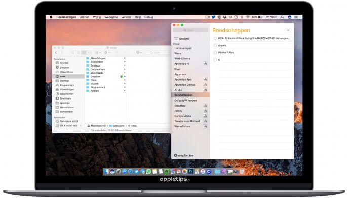 Window Snapping activeren in macOS Sierra