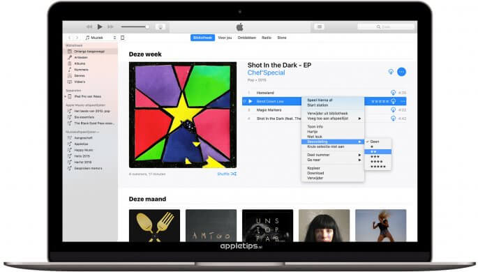 Muziek beoordelen in iTunes