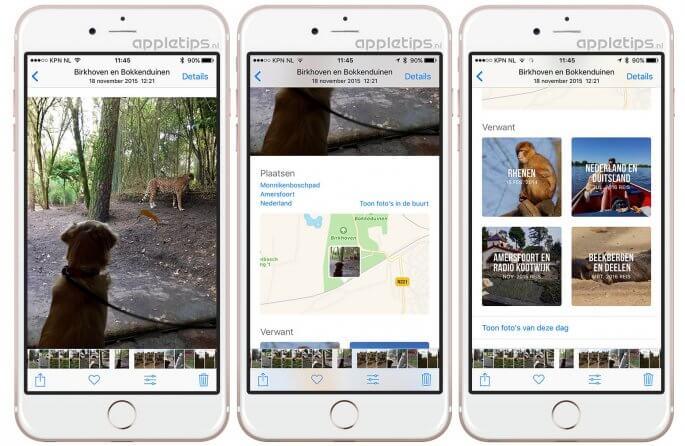 Verwante aandenkens en details bekijken in Foto's voor iOS 10
