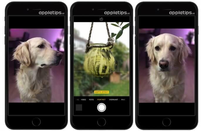 diepte-effect voor iPhone 7, nieuw in iOS 10.1 voorbeld