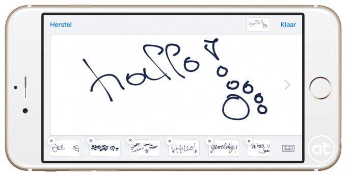 Handgeschreven berichten maken en versturen in iOS 10 berichten