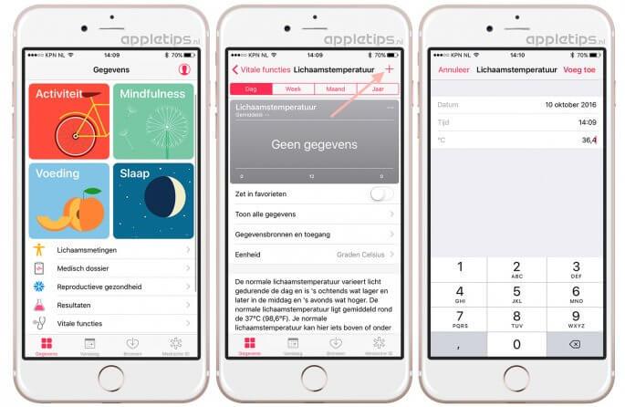 Gezondheid in iOS 10: Handmatig gegevens toevoegen