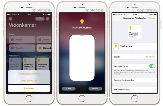 Homekit accessoires bewerken en toevoegen aan Woning in iOS 10