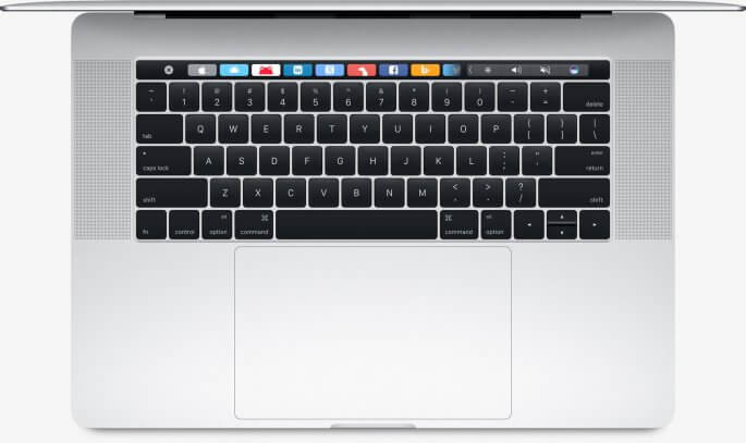 macBook pro 15 inch groot trackpad