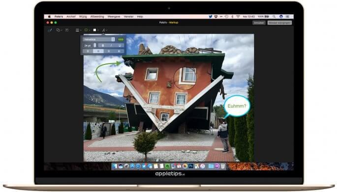 tekeningen en markeringen toevoegen in macOS sierra