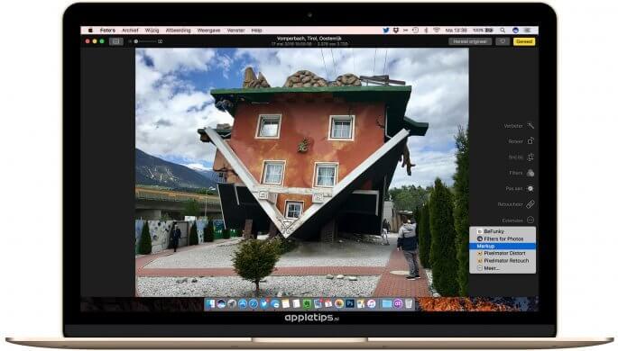 tekeningen en markeringen activeren in macOS sierra