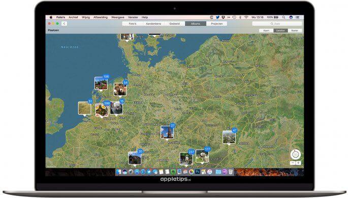 Plaatsen bekijken op Foto's in macOS Sierra