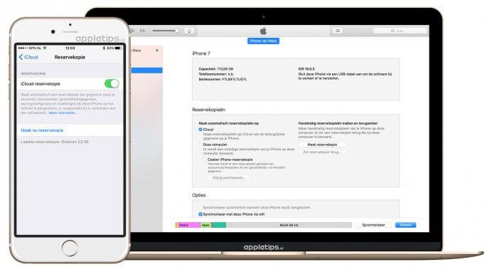 Reservekopie maken van je iPhone