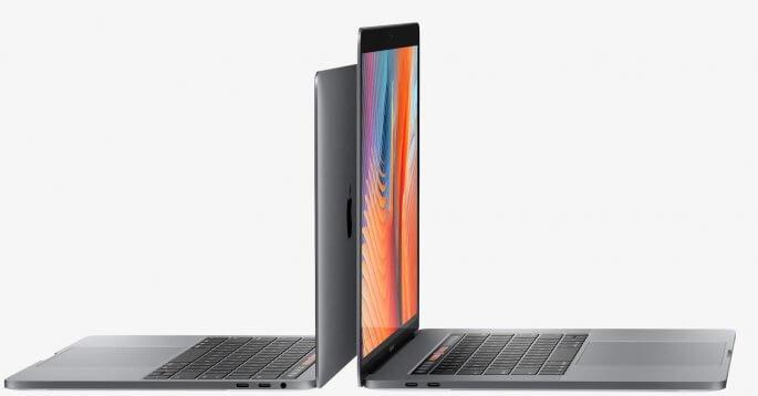 nieuwe macbook pro met vier usb-c poorten