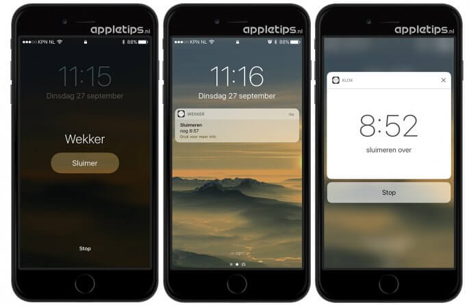 Wekkers eenvoudig stroppen via 3D touch in iOS 10