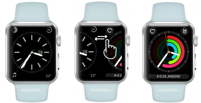 snel wisselen tussen je wijzerplaten Apple Watch