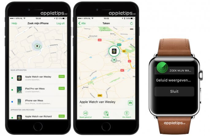 Apple Watch kwijt, zoek mijn watch