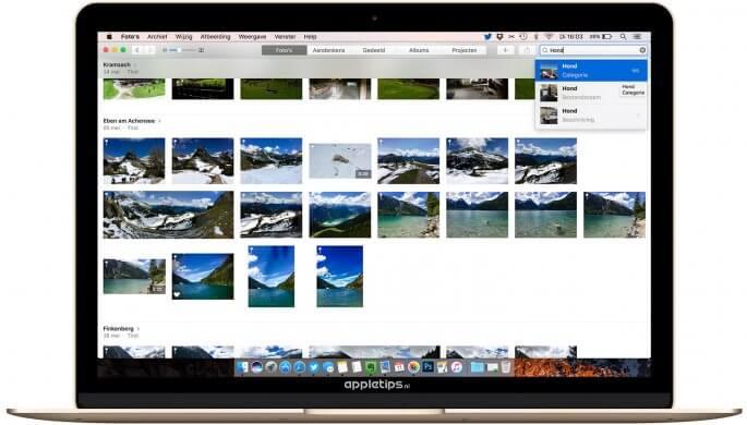 Uitgebreid zoeken naar foto's in macOS