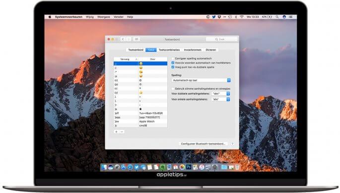 hoofdletter typen in macOS sierra