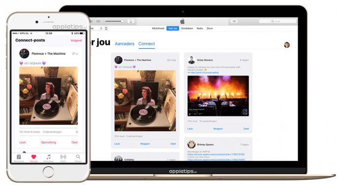 Apple Music Connect raadplegen vanaf iOS 10 en maCOS Sierra