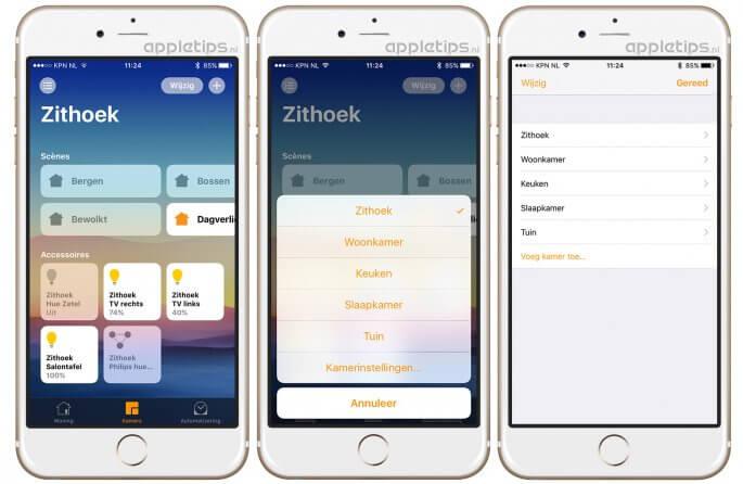 Woning kamers toevoegen iOS