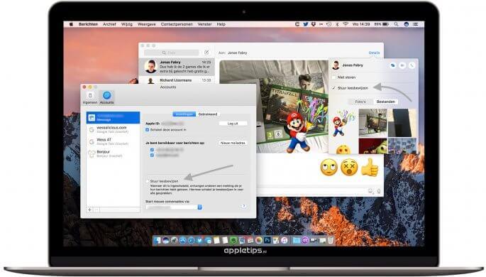 iMessage leesbewijzen uitschakelen in macOS