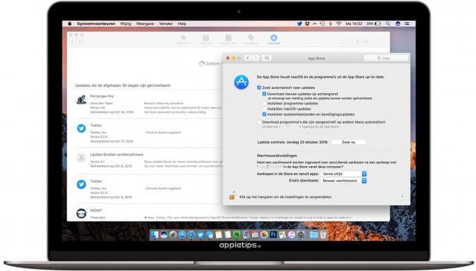 Automatisch software-updates mac uitschakelen