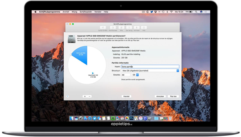 Actieve Partitie Wijzigen.Een Extra Partitie Aanmaken Op Een Mac In Macos Os X