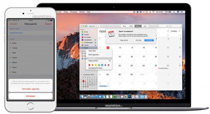 iCloud Spam verwijderen uit Agenda