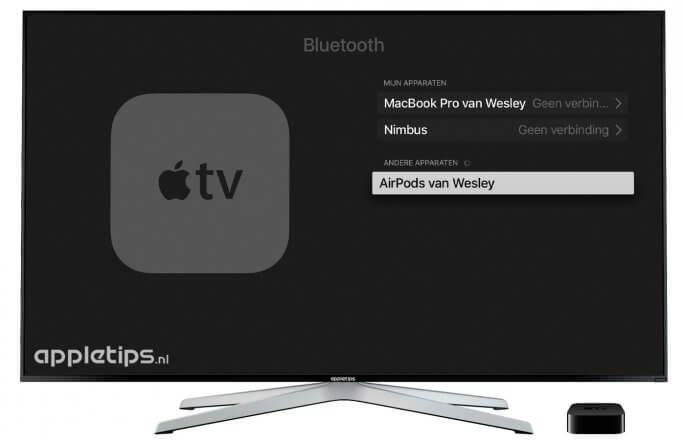 AirPods koppelen aan een Apple TV