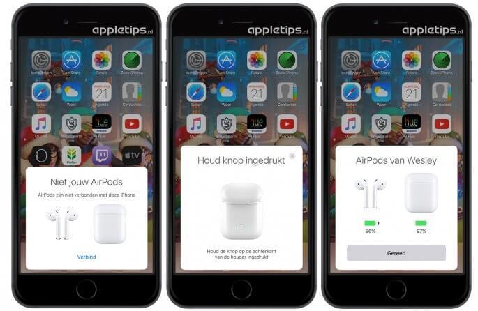 Airpods delen en verbinden met andere iPhone