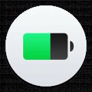 batterijduur, batterij logo
