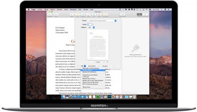 pdf-bestanden bewaren in macOS