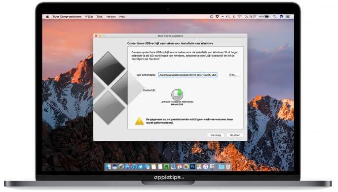 Windows installeren via Boot Camp
