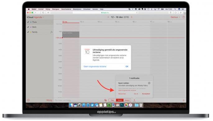 iCloud spam melden apple via icloud.com