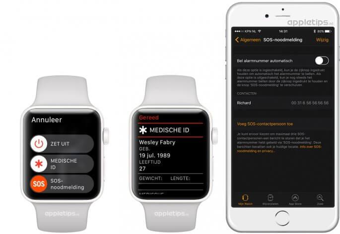Medisch ID Apple Watch