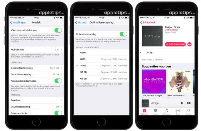 automatisch muziek downloaden in Apple Music muziek