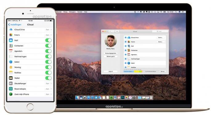 iCloud instellen in iOS en MAc
