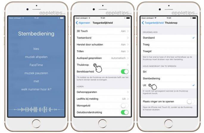 Siri, voice control en stembediening volledig uitschakelen in iOS