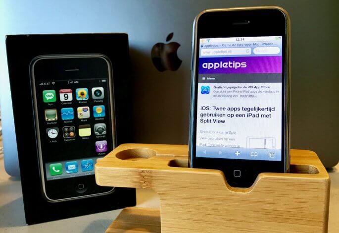 De eerste generatie iPhone
