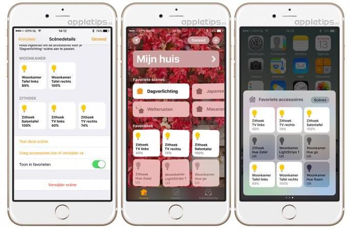 Favorieten beheren, gebruiken en aanmaken in iOS woning