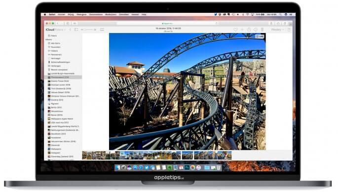 Foto's beheren via de iCloud website