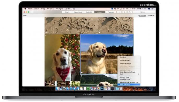 hoofdfoto wijzigen in macOS sierra