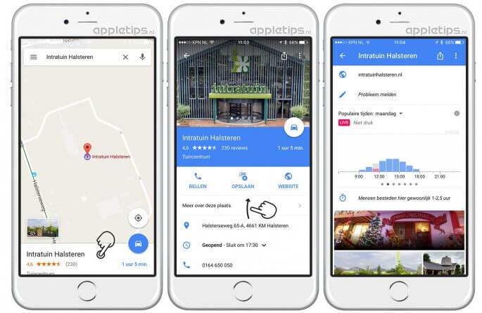 Live de drukte bekijken in Google Maps
