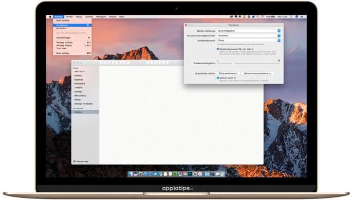 notities lokaal bewaren op je Mac