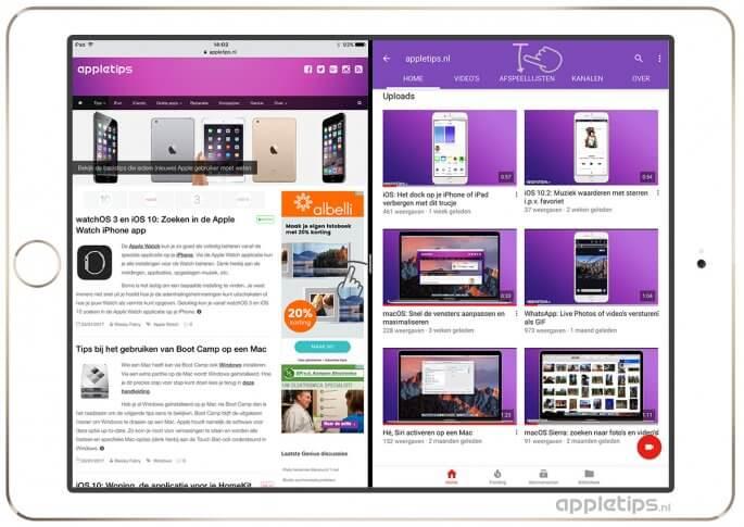 split view gebruiken op een iPad