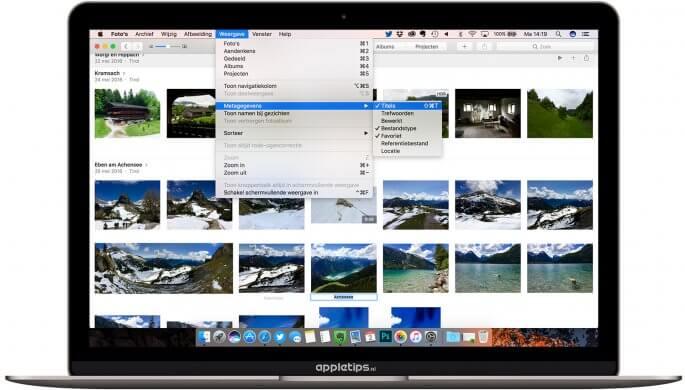 foto's voorzien van een titel in mac app