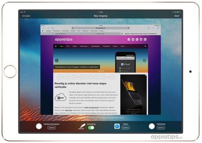 Begeleide toegang instellen op een iPhone of iPad in iOS