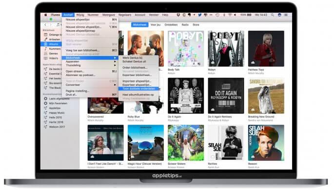 dubbele onderdelen zoeken in iTunes
