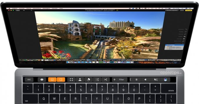 Luminar in Foto's voor Mac en Touch Bar