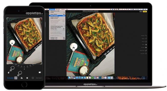 Foto's draaien of roteren in Foto's voor Mac en iOS
