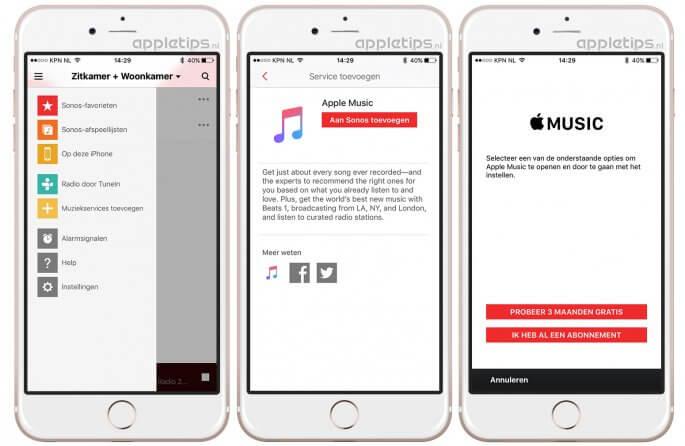 Apple Music koppelen aan Sonos