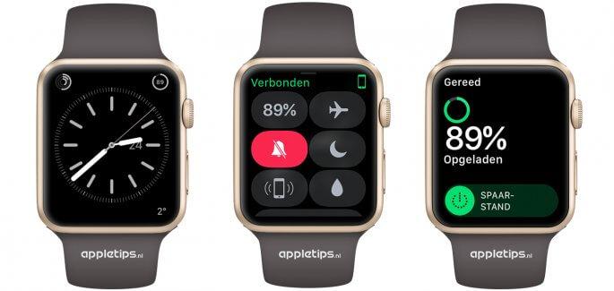 Spaarstand activeren op een Apple Watch